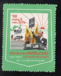 South Vietnam  NGAY BAN HANH LUAT NGUOI CAY CO RUONG.