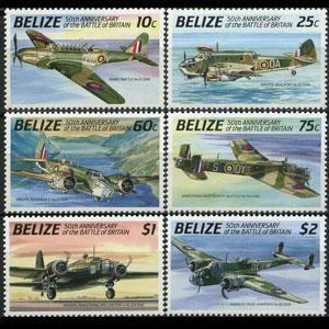 BELIZE 1990 - Scott# 951-6 Britain Battle Set of 6 NH