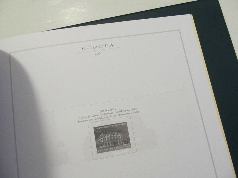 Cartella Marini King con Custodia e Fogli Europa CEPT 2004-2006 Pari al Nuovo