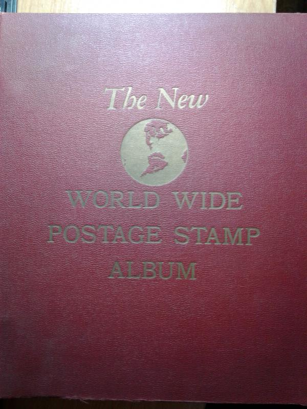 MINKUS VINTAGE WORLD WIDE STAMP ALBUM 1958
