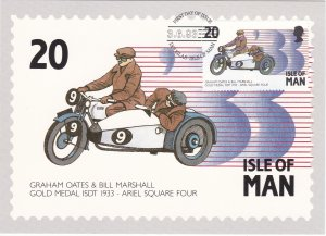 Isle of Man # 562-566, Motorcycle Racing, Maxi Cards, First Day Cancels