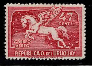 Uruguay Scott C68  MH* Pegasus airmail stamp 31.5x21 mm