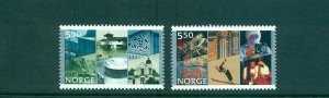 Norway - Sc# - 1334-5. 2002 City Charters. MNH $3.00.