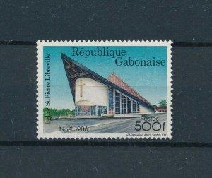 [104726] Gabon 1986 Christmas Weihnachten church  MNH