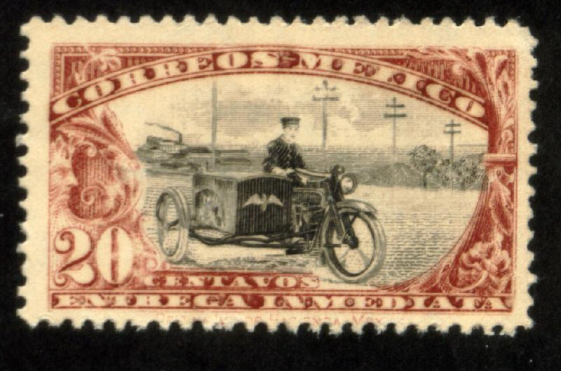 MEXICO E2 20¢ Motorcycle. Special Delivery, wmkd, MINT, NH. F-VF.