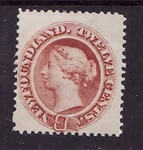 Newfoundland- Sc#28-unused NH 12c Queen Victoria-id#378-1870-
