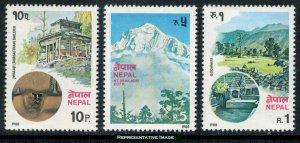 Nepal Scott 385-387 Mint never hinged.