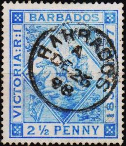 Barbados. 1897 2 1/2d S.G.119 Fine Used