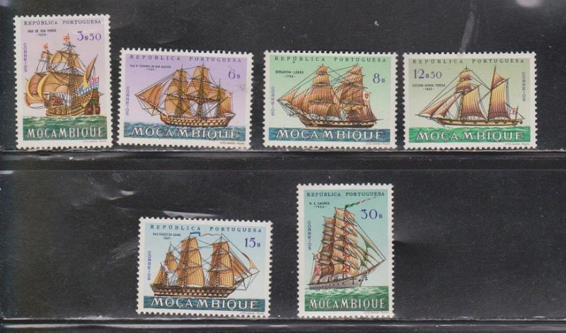 MOZAMBIQUE  - Mint Never Hinged Ships On Stamps