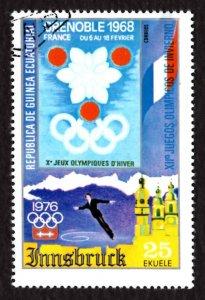Equatorial Guinea 25E Grenoble, Figure-skate Olympics Sports Flags 1975 Sc.75-36