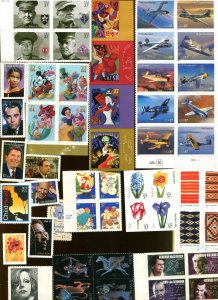 US 2005 Commemorative Year Set 138 Stamps From Year Book Mounts Included