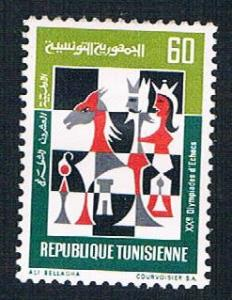 Tunisia 585 MLH Chessboard (BP7110)