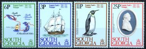 South Georgia Sc# 52-55 MNH 1979 Cook's Voyages