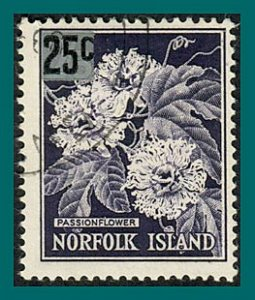 Norfolk Island 1966 Surcharge Passion Flowers, used  #79,SG68