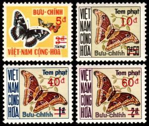 ✔  SOUTH VIETNAM 1974 BUTTERFLIES PD - MI# P21/24  SC#J21/24 ** MNH OG [VNP21]
