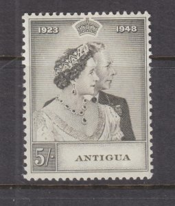 ANTIGUA, 1949 Silver Wedding 5s. mnh., small bend at top right..
