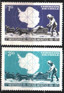Chile. 1972. 769-70. Antarctic exploration, dogs. MNH.
