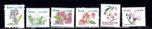 Brazil 2176-81 MNH 1989 Flowers    (ap2081)
