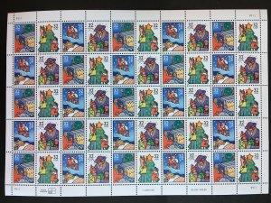 1996 sheet Christmas Holiday Celebrations Sc# 3108-3111