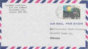 Canada 20c United Nations Habitat Conference 1976 Metabetchouan, P.Q. Airmail...