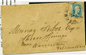 Confederate CSA Stamps # 9 Used on Cover Rare Scott Value $1,600.00