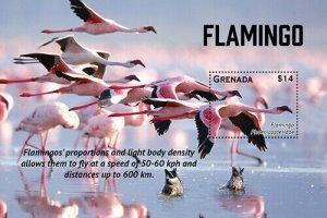 2020/11- GRENADA - FLAMINGO      1V complet set    MNH ** T