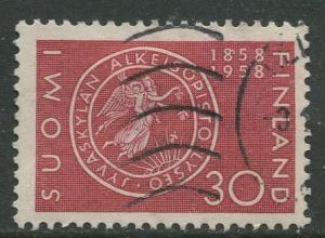 Finland - Scott 358 - Seal Jyvaskla Lyceum -1958- Used - Single 30m Stamp