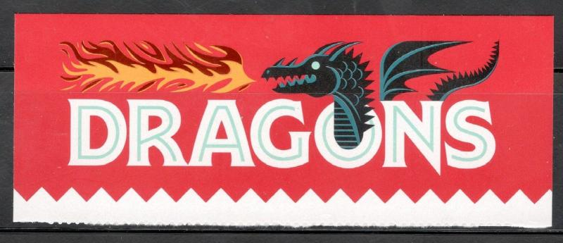 5306 Dragons Selvage (No Stamps) Free Shipping