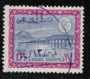 Saudi Arabia Scott 409 used Dam stamp King Faisal regiem