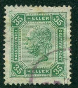 Austria 1901 #79 U SCV(2018)=$0.25