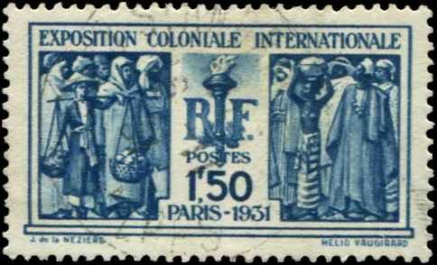 France SC# 262 French Colonies 1ƒ50 Used Perf 13-1/2 SCV $2.75