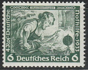 Stamp Germany Mi 502 Sc B52 1933 WWII 3rd Reich Meinstersing Richard Wagner MNG