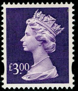 SGY1802, £3 dull violet, NH MINT.