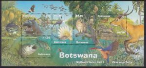 Botswana, Fauna, Birds, Animals MNH  / 2000