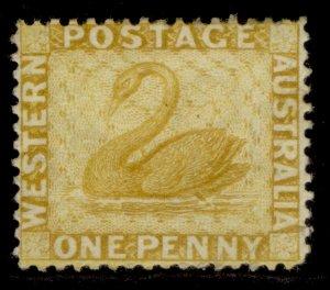 AUSTRALIA - Western Australia QV SG76, 1d yellow-ochre, M MINT. Cat £30.