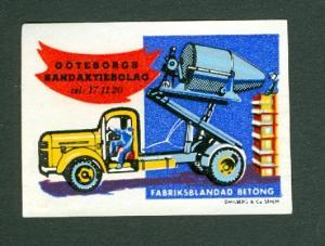 Sweden. Poster Stamp  Concrete Truck