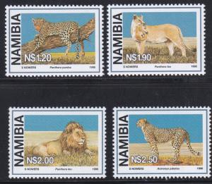 Namibia # 878-881, Large Wild Cats, NH, 1/2 Cat