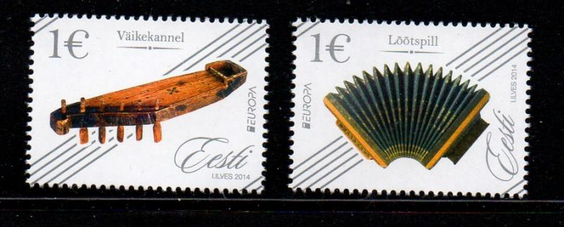 Estonia Sc 760-1  2014 Europa Musical Instruments stamp set mint NH