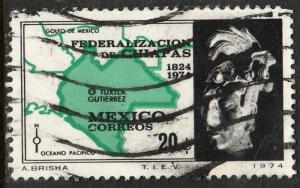 MEXICO 1067, Sesquicentennial of Chiapas Statehood. Used. (569)