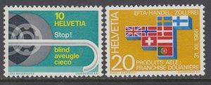 Switzerland 480-481 MNH VF