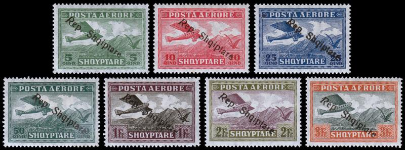 Albania Scott C8-14 (1927) Mint H F-VF Complete Set, CV $39.75