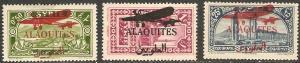 1929 Alaouites Scott C17-9 Airplane Overprints MHH