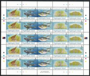 Tristan da Cunha Thrush Bird Whales Fish Nightingale Island 4th Series Full