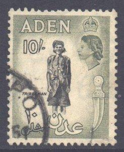 Aden Scott 60 - SG70, 1953 Elizabeth II 10/- Black used