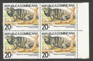 Dominican Republic 835 MNH BLOCK OF 4 [D1]