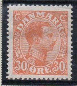 Denmark Sc 112 1921 30 ore orange Christian X  stamp mint