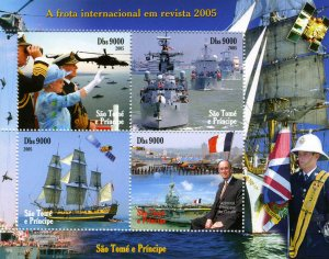 Sao Tome & Principe 2005 AIRCRAFT SATELLITE Sheet Perforated Mint (NH)