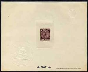 French Guiana 1947 Postage Due 5f purple Epreuves deluxe ...