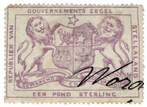 (I.B) Stellaland (Bechuanaland) Revenue : Duty Stamp £1