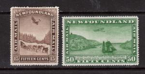 Newfoundland #C9 - #C10 VF Mint Duo